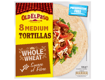 Eight Medium Tortillas Whole Wheat