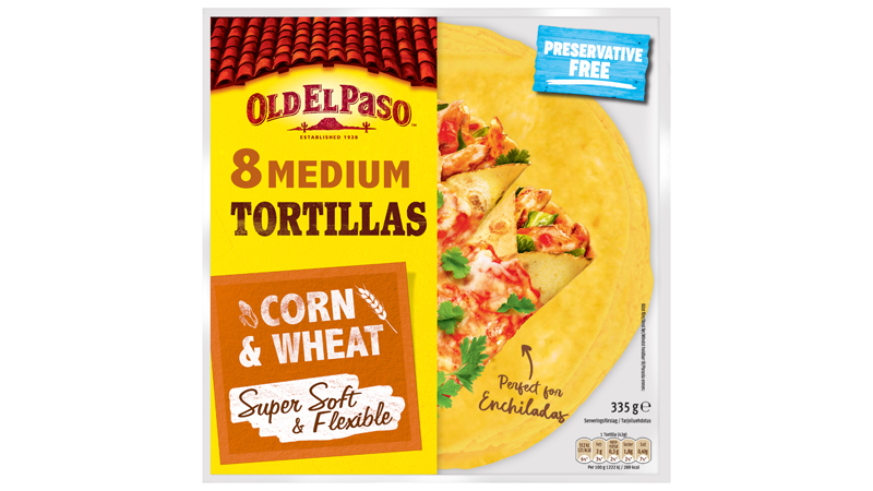 8 MEDIUM Tortillas Super Soft CORN and WHEAT