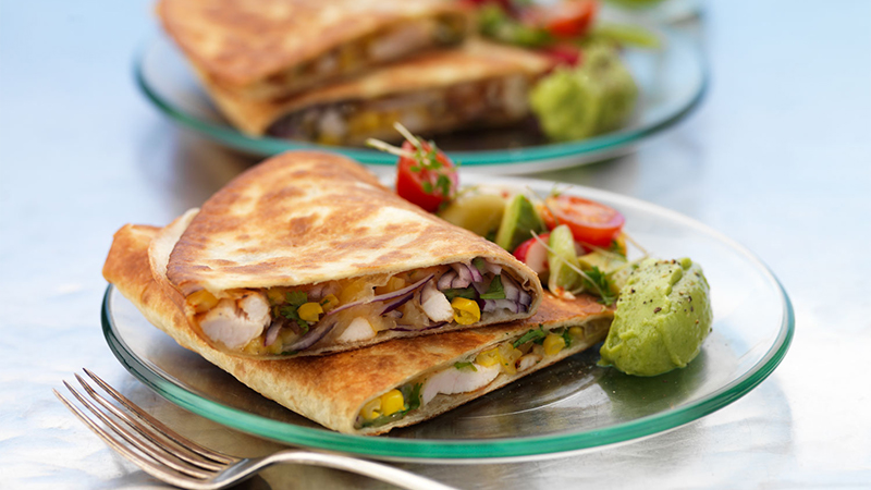 chicken-and-cheese-quesadillas