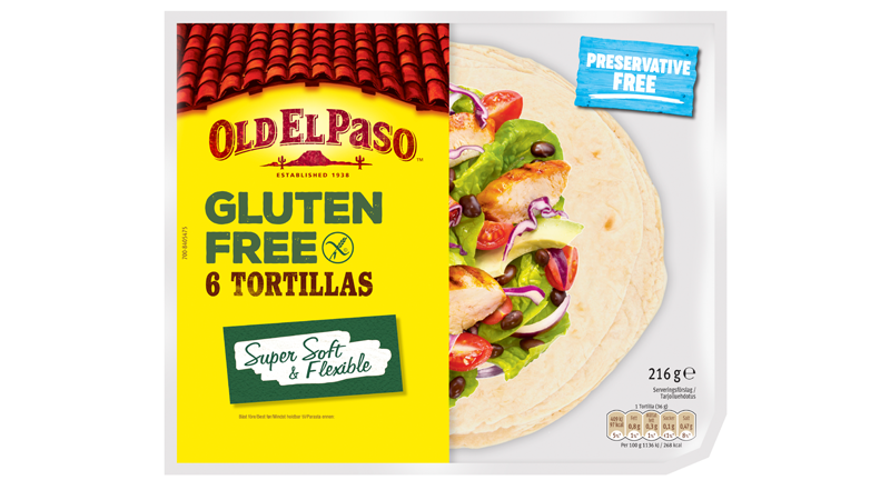 Six Medium Gluten Free Tortilla
