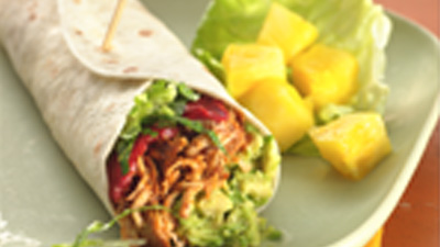 Slow Cooker Turkey Bacon and Avocado Wraps