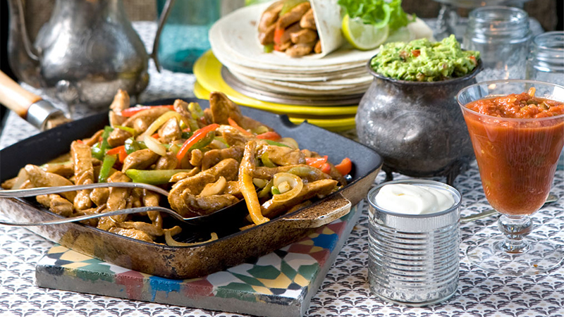 fajitas-with-chicken-and-peppers