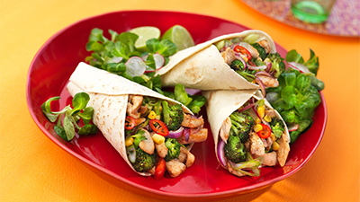 fajitas-with-coriander-and-lime
