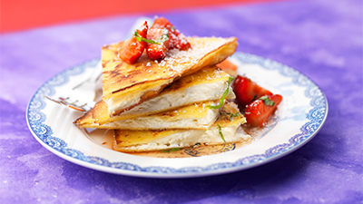 quesadillas-with-white-chocolate-strawberries-and-basil
